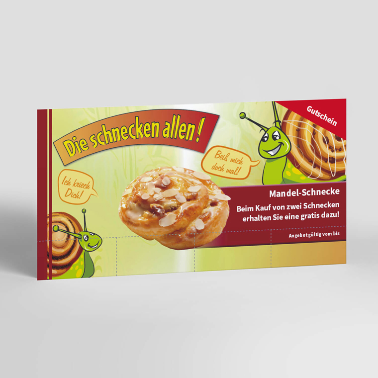 Coupon-Karte Schneckenaktion