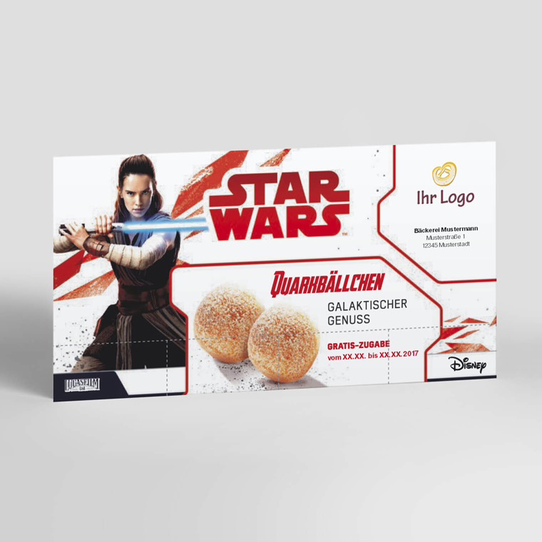 Coupon-Karte Star Wars